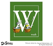 Dr. Seuss™ Alphabet Prints, Letter W, Green, Wash
