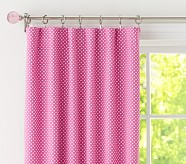 "Dot Blackout Panel, 96"", Bright Pink"