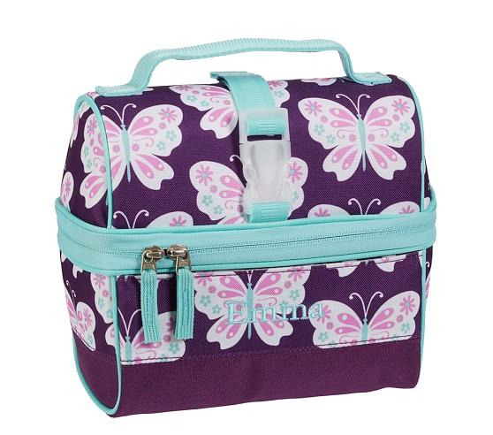 Mackenzie Plum Butterfly Retro Lunch Bag