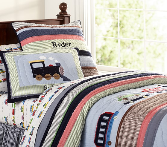 Ryder Train Quilt, Twin