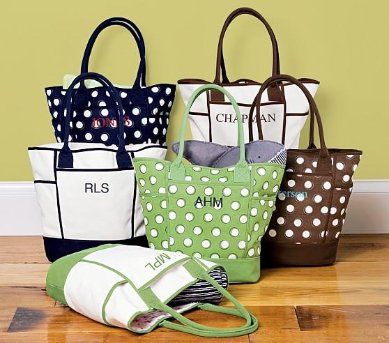 Canvas Diaper Bag, Monogrammed or Plain Green Solid