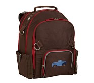 Fairfax Chocolate/Red Large Backpack, Truck