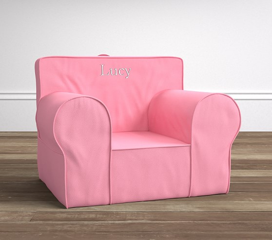 Oversized Anywhere Chair Slipcover, Bright Pink