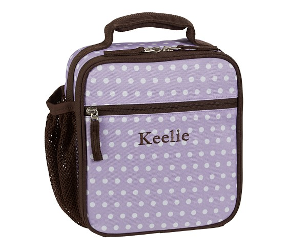Mackenzie Lavender Dot Classic Lunch Bag