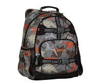 Gray Dino Large Backpack