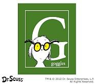Dr. Seuss™ Alphabet Prints, Letter G, Green, Goggles