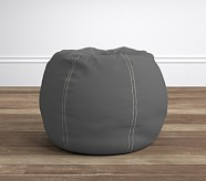 Gray with Khaki Stitch Anywhere Beanbag®
