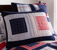 Patchwork Squares Quilted Standard Sham