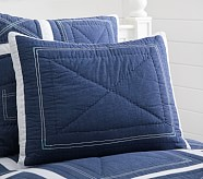 Chambray Patch Standard Quilted Sham