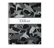 Notebook, Mackenzie Gray Shark Camo