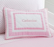 Harper Decorative Sham, Pale Pink