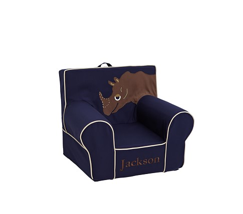 Anywhere Chair Slipcover Only, Regular, Rhino Applique