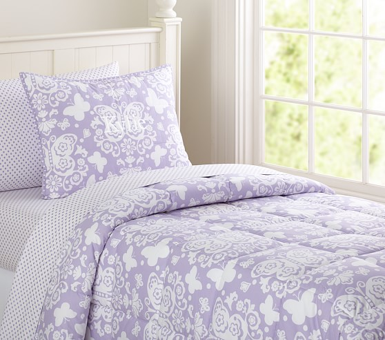 Loft Butterfly Quilt, Lavender, Full/Queen