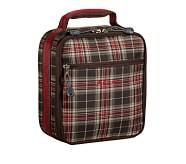 Mackenzie Brown Plaid Classic Lunch Bag