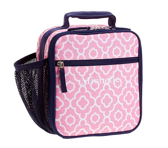 Mackenzie Pink/Navy Geo Classic Lunch Bag