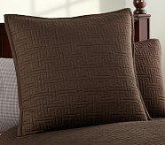 Seacliff Euro Quilted Sham, Brown