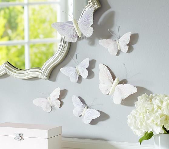 Feather Butterfly Decals, Medium, Set of 4