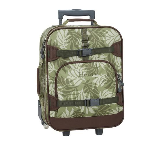 Boys' Mackenzie Rolling Luggage, Green Palm Camo