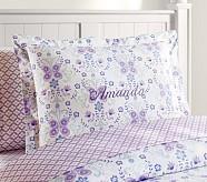 Ivy Damask Standard Sham, Blue/Lavender