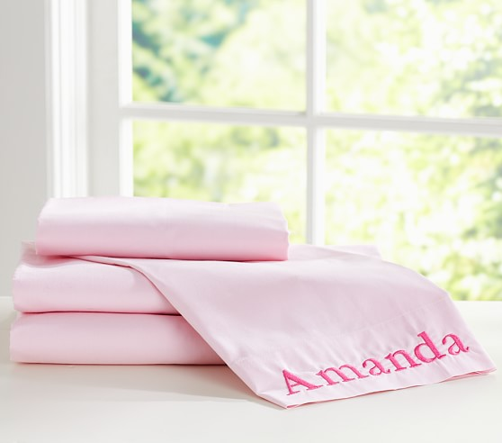 Organic Cotton Sheet Set, Twin, Pink