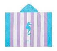 Stripe Seahorse Baby Beach Wraps