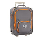 Fairfax Gray/Orange Small Luggage, Baseball