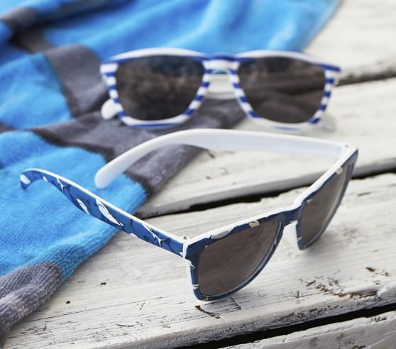 Kid Sunglasses, Navy Stripe