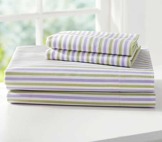 Savannah Sheet Set, Twin, Lavender/Green