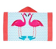 St. Tropez Icon Beach Wrap, Flamingo