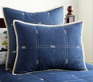 Easton Standard Sham, Denim