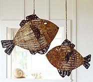 Woven Fish Hanging Decor, Small