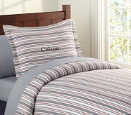Lakehouse Stripe Duvet Cover, Twin, Navy