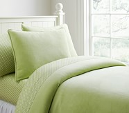 Chamois Duvet, Full/Queen, Green