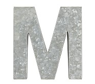 Galvanized Wall Letter, M
