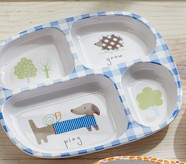 Hedgehog & Dog Divided Plate