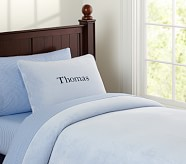 Chamois Duvet, Twin, Blue