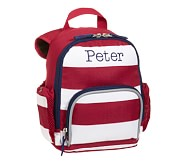 Fairfax Red Stripe Mini Backpack, No Patch