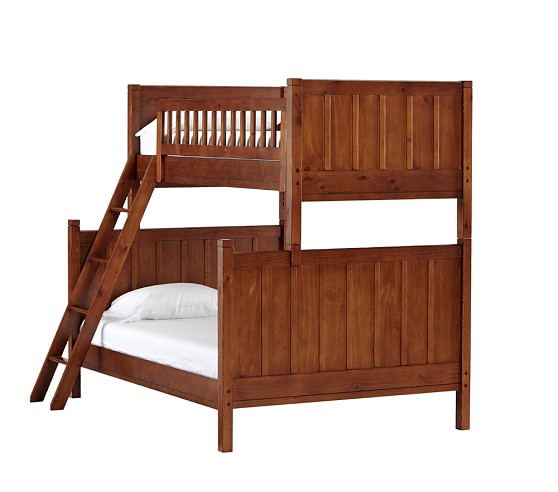 Camp Twin-Over-Full Bunk Bed, Rustic Chestnut