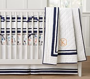 Harper Toddler Quilt, Navy