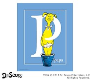 Dr. Seuss™ Alphabet Prints, Letter P, Blue, Papa