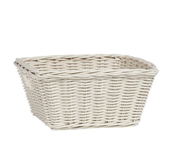 Sabrina Basket, Medium, Simply White