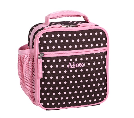 Mackenzie Chocolate Dot Classic Lunch Bag