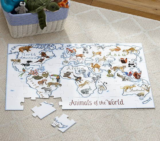Animals Of The World Floor Puzzle