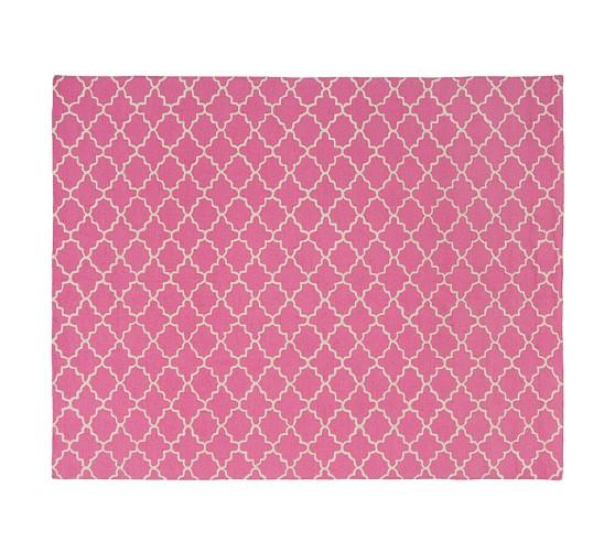 Addison Rug 3x5' Bright Pink