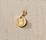 Gold Initial Pendant, D