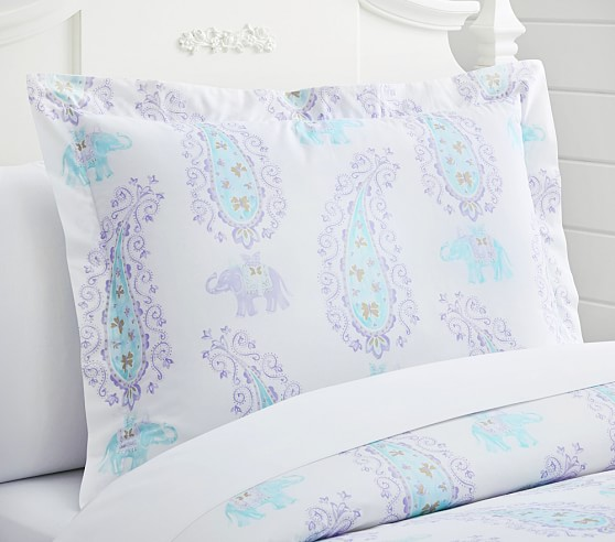 Elyse Standard Sham, Lavender/Aqua