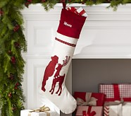 Santa Plaid & Crewel Stocking