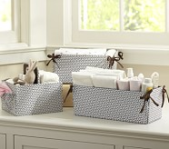 Canvas Diaper Caddy, Chocolate Geo