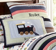 Ryder Train Quilted Sham, Standard