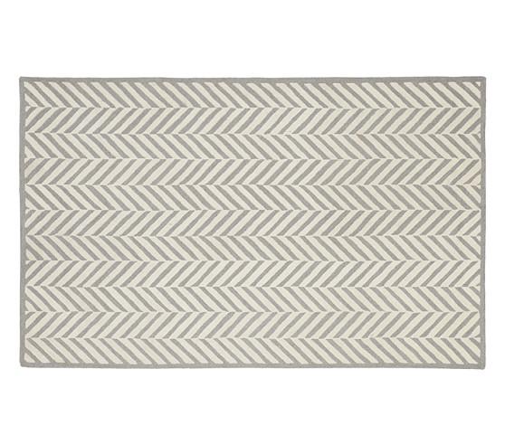 Herringbone Rug (Gray) 3x5'